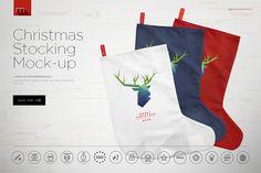 Christmas Stocking Mock-up  @creativework247