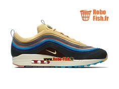 Officiel Nike Wmns Air Max 1/97 VF SW GS - Chaussure de Running Pas Cher Pour Femme/Enfant Light Blue Fury/Lemon Wash AJ4219-400