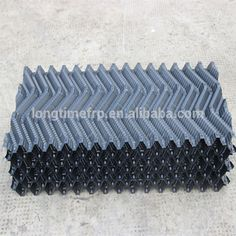 Square counter flow cooling tower S wave PVC water cooling tower rigid pvc fill sheet Cooling Tower, Water Cooling, S Wave, Counter, Flow