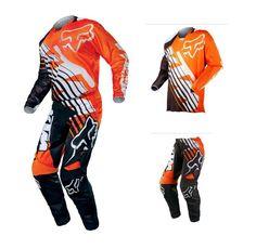 2015 fox 180 race orange black ktm jersey pant motocross gear kit