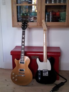 My Gibson Les Paul Deluxe and my Fender Esquire (70s tele with Esquire scratch plate :-))