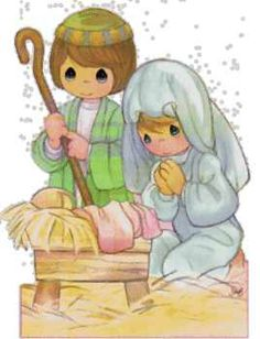 Clip Art - PM - Babe in a manger