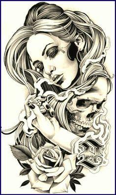 Gambling with death - temporäre tattoos Tatoo Art, Tattoo Drawings, I Tattoo, Art Tattoos, Tatoos, Tattoo Quotes, Totenkopf Tattoos, Theme Tattoo, Chicano Tattoos