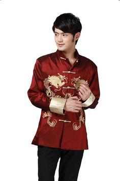 dbccb0d29 JTC Tai Chi Top Royal Kung Fu Jacket for Men Chinese Shirt Clothing (L,