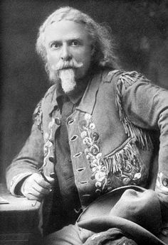 "Cody lived an interesting life as a scout, Indian fighter and buffalo hunter. However, his main contribution for posterity was the popularisation of the ""Western."" His cowboy shows did much Real Cowboys, Cowboys And Indians, Old West Outlaws, Old West Photos, Western Photo, Wild West Cowboys, Cowboy Pictures, Into The West, American Frontier"