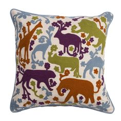 National Geographic Animal Cotton Throw Pillow