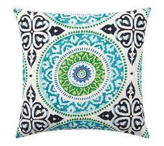 Leona Medallion Indoor/Outdoor Pillow   Pottery Barn
