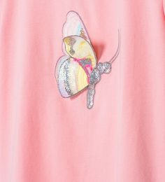 Image 5 of Sequin butterfly T-shirt from Zara