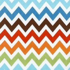Ann Kelle - Remix - Large Zig Zag Stripe in Bermuda