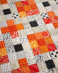 The Nine-Patch + SO many links to wonderful things to see and sew! Fall Quilts, Scrappy Quilts, Bed Quilts, Low Volume Quilt, Crumb Quilt, Plus Quilt, Black And White Quilts, Straight Line Quilting, Nine Patch Quilt