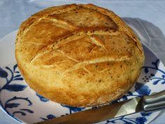Pan de ajo y orégano en Pyrex