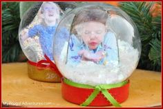 DIY Snow Globes {Easy Children's Christmas Craft}