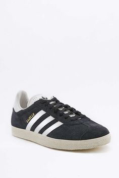 Shop adidas Originals Gazelle Black Suede Trainers at Urban Outfitters today. Black Suede Trainers, Suede Sneakers, Adidas Sneakers, Adidas Gazelle Black, Adidas Originals, Urban Outfitters, Brian Atwood, Stan Smith, Color Negra