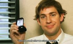 """When Jim reveals when he bought Pam's engagement ring. 