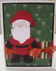 santa clause cricut christmas card