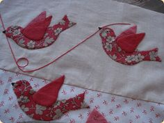 Beautiful applique project using French General fabrics. Beautiful applique project using French General fabrics. Bird Applique, Applique Patterns, Applique Quilts, Applique Designs, Quilting Designs, Quilting Projects, Quilt Patterns, Sewing Projects, Bird Patterns