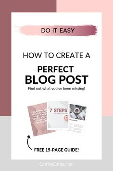 OMG this guide is free and seriously awesome. I include everything in it every time I post a new blog post and it's been great! Just enter your email and you'll get it free on sign up! Blogging for beginners blogging for non bloggers starting a blog content marketing branding social media pinterest starting a blog easy how to write on a blog