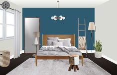 Contemporary, Eclectic Bedroom by Havenly
