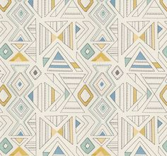 A contemporary embroidered fabric in a geometric design of pink, orange, citrus yellow, blue and ivory. This 54 wide home decor fabric is suitable for light furniture upholstery, all window treatments, bedding and pillows. See additional color link, curtain/roman shade information and custom pillow cover pricing below. This listing is for fabric by the yard.  FABRIC SAMPLES:  Fabric Name for Sample Order: Coconut Grove Order Fabric Swatches Here: https://www.etsy.com/listi...