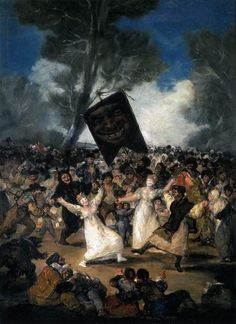 Often painted events of the time, ones that caused conflict and controversy