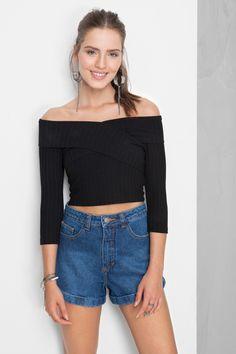 blusa decote transpasse | Dress to