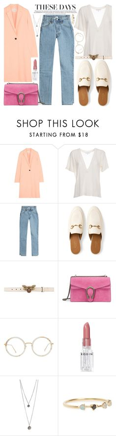 """Keep each other company"" by carolsposito ❤ liked on Polyvore featuring Cédric Charlier, IRO, Vetements, Gucci, Linda Farrow, Rodin and WWAKE"