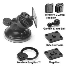 Bracketron Universal GPS Nav-Pro Mobile GPS Window Mount for TomTom, Magellan, Mio, Garmin GPS Devices and Satellite Radios by Bracketron. $14.99. Bracketron SWM-400-BL Universal GPS Nav-Pro GPS Window Mount. Featuring a 360° rotating AMPS hole pattern mounting head, the Nav-Pro Windshield Mount is the ideal solution for mounting Garmin, TomTom, Magellan GPS and many other different mobile electronic devices in your vehicle.   - Compact, Low Profile Design.  - Comp...