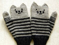 Kitten Mittens.1   This pattern is available here: knit-amig…   Flickr