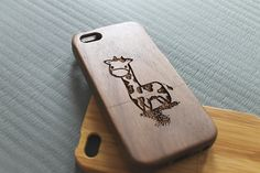 Natural Wood iPhone 5 Case iPhone 5s Case Giraffe by SeeroseKim