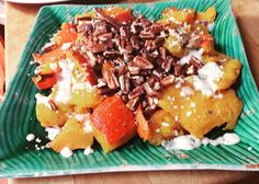 Roasted Red Kuri Squash topped with blue cheese & toasted pecans... AND you get eat the skin of the squash... so GOOD!!! #tastygreattimes #nofoodwaste #loveitloveit #local #organic #bounty #sandiego #lajolla #Delmar #Encinitas #Cardiff #carlsbad #lajollalocals #sandiegoconnection #sdlocals - posted by Chef Yapo  https://www.instagram.com/chefyapo. See more post on La Jolla at http://LaJollaLocals.com
