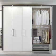 MY WAY in Weiß Matt: Drehtürenschrank: 5-türig, ca. 250 x 222 x 62 cm, mit Aufbaustrahlern