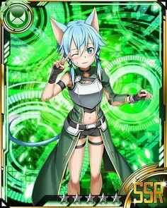 ◆💚◆ Sinon (ALO) ◆💚◆ Sword Art Online, Sinon Ggo, Kirito, Sao Characters, Fictional Characters, Sao Game, Asada Shino, Online Cards, Anime Girl Hot