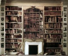 Marcel Proust's library     #bookshelf #library #roomwithbooks