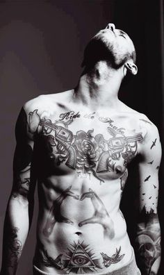 Is it the tattoos?Maybe I just find this shot unbelievably gorgeous. Great fashion doesn't always require clothes!