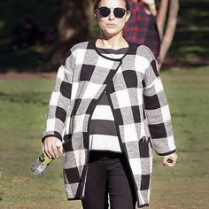 Lookin' good Mama  Natalie Portman taking her bump for a stroll (again) in our Claude jacket and Bateau Top  #hatchtagged