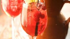 ... , spiced simple syrup, ruby port wine, cointreau cranberry juice