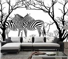 custom photo wallpaper room mural black and white abstract tree zebra painting TV background non-woven wallpaper for wall Zebra Wallpaper, Room Wallpaper, Print Wallpaper, Photo Wallpaper, Chic Living Room, Living Room Sofa, Living Room Decor, Black And White Tree, Black And White Abstract