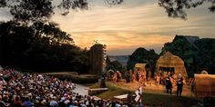 Outdoor theatre,,, The Lost Colony in Manteo each summer.  Classic NC event.