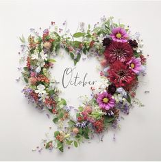 Month Flowers, Hello October, Beautiful Nature Scenes, New Month, Good Morning Greetings, Yoko, Months In A Year, Flower Crown, Watercolor Flowers