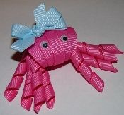 So many cute hair clips available to buy.  Who knew you could do so much with ribbon?!?