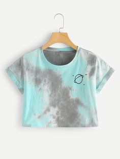 Water Color Cuffed Tee - Source by lauramichellekunert - Cute Lazy Outfits, Crop Top Outfits, Kids Outfits Girls, Teenage Outfits, Pretty Outfits, Stylish Outfits, Girl Outfits, Girls Fashion Clothes, Teen Fashion Outfits