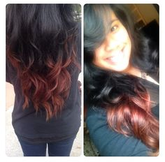 Black hair with red ombre