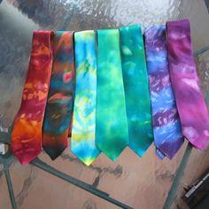 Tie Dye Wedding Ties by hobhick, Rave Wedding, Wedding Pins, Wedding Trends, Diy Wedding, Dream Wedding, Wedding Cake, Wedding Ideas, Tie Dye Crafts, Rainbow Wedding