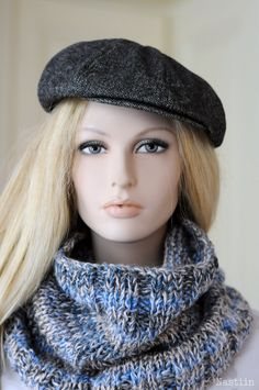 3cba990498c Blue infinity cowl Knitted loop scarf Oversized scarf cowl Hooded cowl  scarf Chunky knit scarf blue Knit neckwarmer blue Infinity scarf cowl