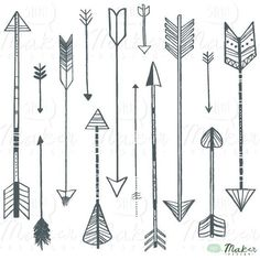 pretty vintage arrow clipart | Arrow Clip Art Digital Graphic Set Photo par ShhMakerDesign