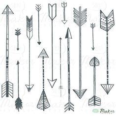 pretty vintage arrow clipart | Arrow Clip Art Digital Graphic Set Photo par ShhMakerDesign