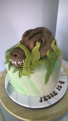 T-Rex birthday cake T Rex, Birthday Cake, Cakes, Desserts, Food, Birthday Cakes, Meal, Deserts, Essen