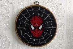 Spidey cross stitch, embroidery?