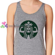 Star Bucks Ariel fitnes tanktop shirt unisex custom clothing Size S-3XL //Price: $11.99  //