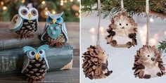 10  Holiday Pine Cone Crafts